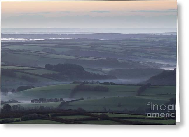 Misty Morning On Exmoor  Greeting Card