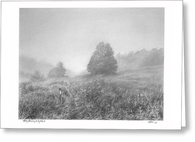 Misty Morning On High Rock Greeting Card