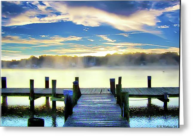 Greeting Card featuring the photograph Misty Morning On Rock Creek by Brian Wallace
