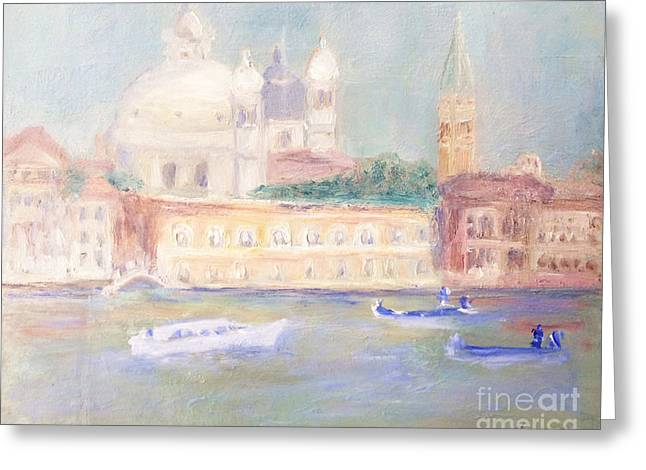 Misty Morning On The Canale Grande Greeting Card
