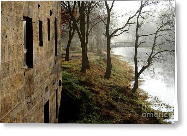 Misty Morning On The Illinois Michigan Canal  Greeting Card