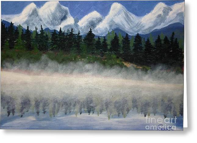 Misty Morning On The Mountain Greeting Card