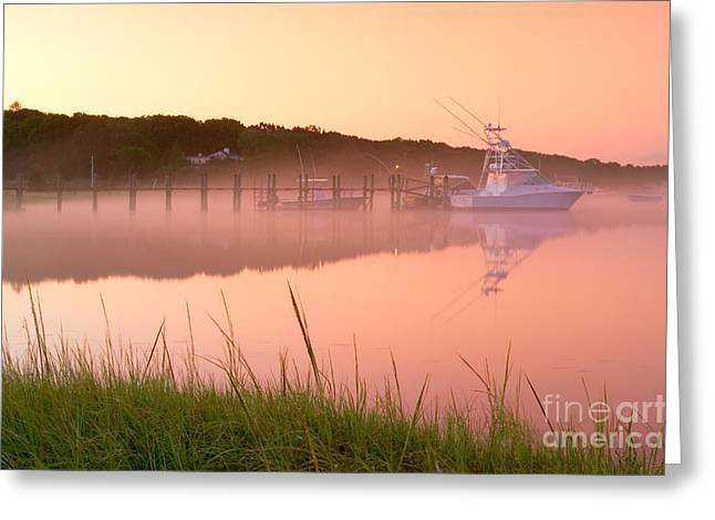 Misty Morning Osterville Cape Cod Greeting Card