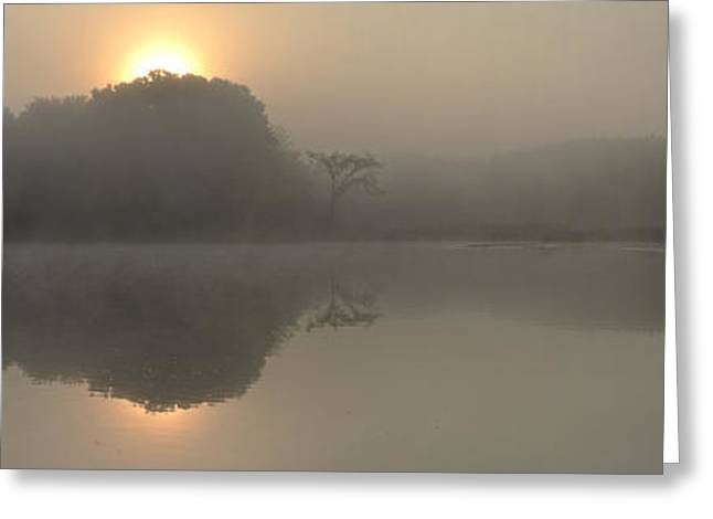 Misty Morning Water Greeting Card