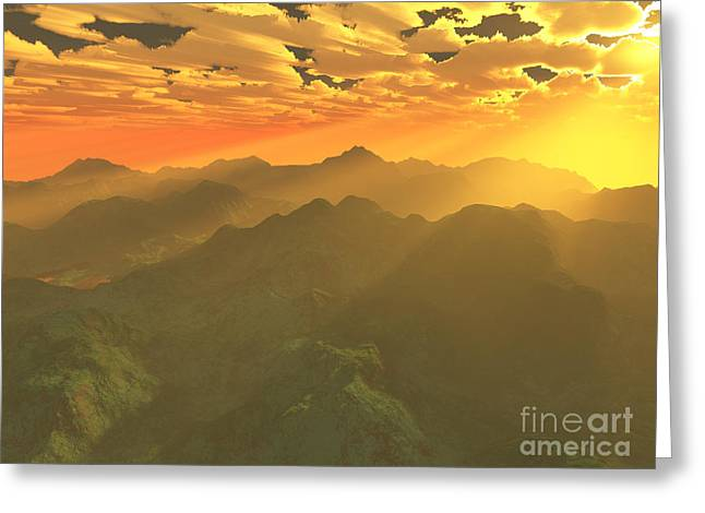 Misty Mornings In Neverland Greeting Card by Gaspar Avila