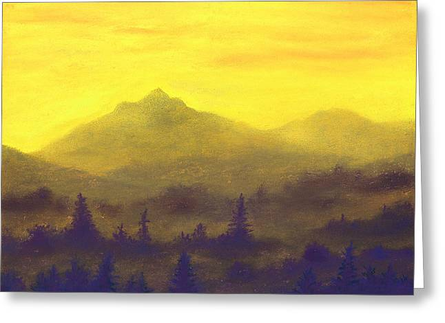 Misty Mountain Gold 01 Greeting Card