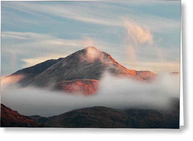 Greeting Card featuring the photograph Misty Mountain by Grant Glendinning