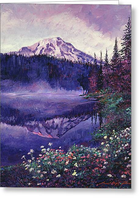 Misty Mountain Lake Greeting Card