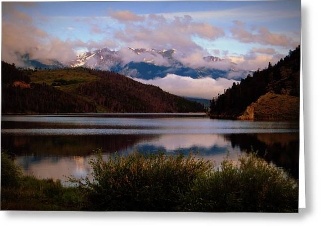 Greeting Card featuring the photograph Misty Mountain Morning by Karen Shackles
