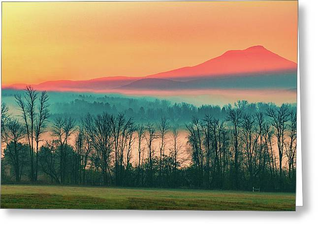 Misty Mountain Sunrise Part 2 Greeting Card by Alan Brown