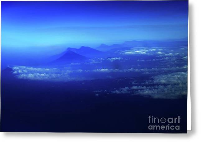 Misty Mountains Of El Salvador Greeting Card by Al Bourassa
