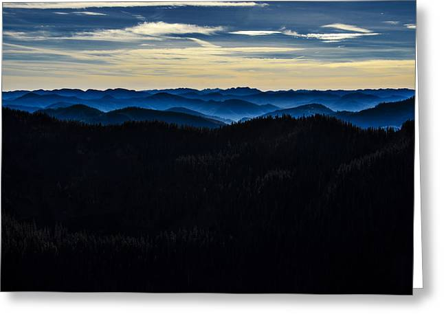 Misty Mountains Greeting Card by Pelo Blanco Photo