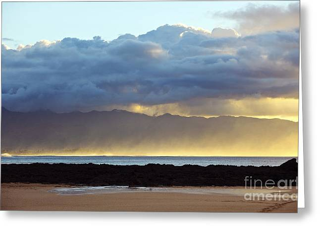 Misty Ocean Horizon Greeting Card by Vince Cavataio - Printscapes