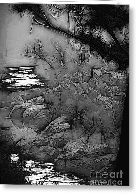 Greeting Card featuring the photograph Misty River by Elaine Teague