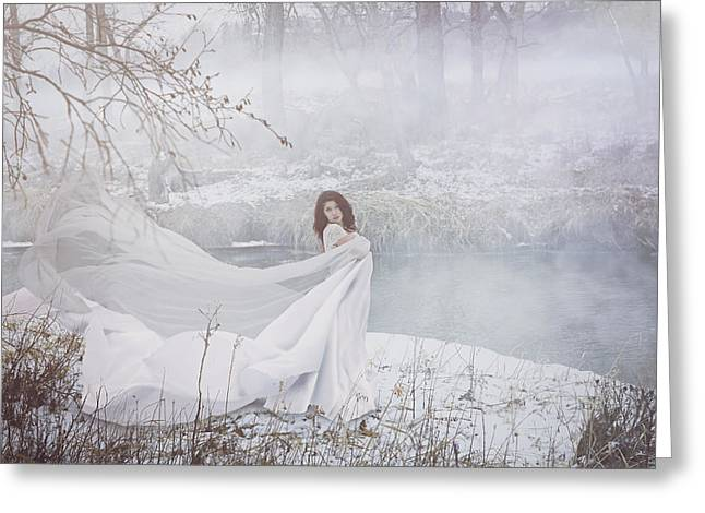 Misty River Greeting Card by Marcin and Dawid Witukiewicz