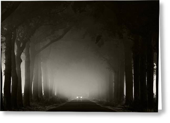 Misty Road Greeting Card