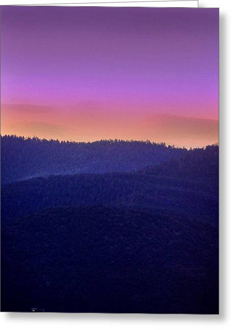 Greeting Card featuring the photograph Misty Rockies Sunrise by Rod Seel