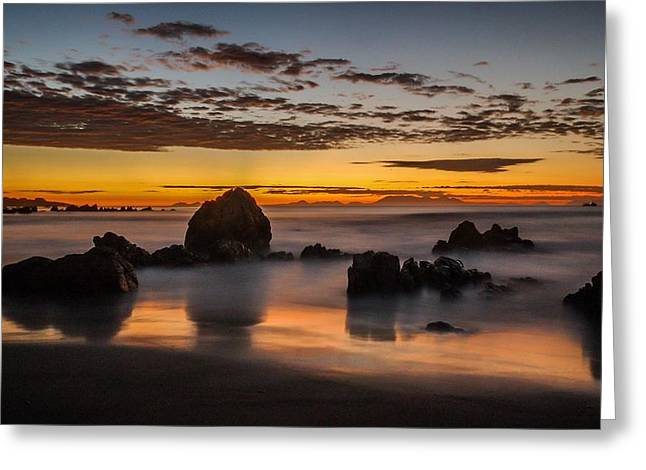 Misty Seascape Greeting Card