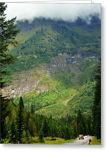 Misty Slopes In Glacier National Park Greeting Card by Kae Cheatham