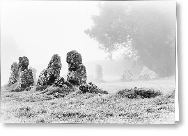 Misty Stones Greeting Card by Tim Gainey