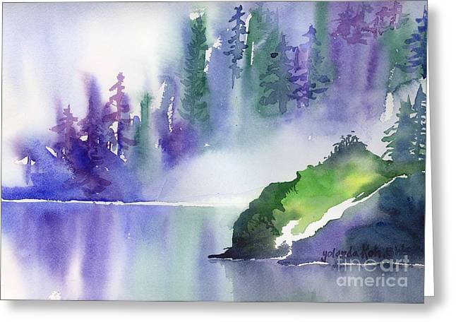Misty Summer Greeting Card by Yolanda Koh