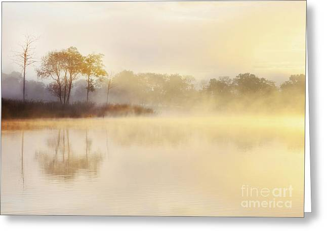Misty Sunrise Loch Ard Greeting Card