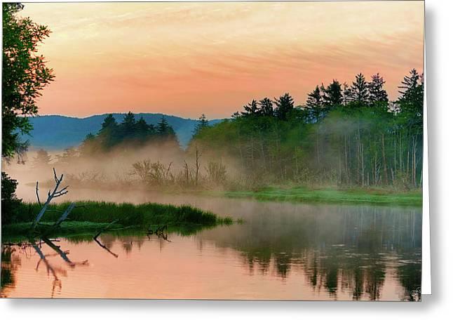 Misty Sunrise Greeting Card