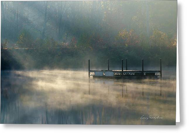 Misty Sunrise Greeting Card by George Randy Bass