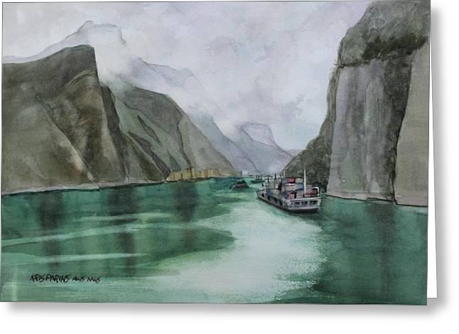 Misty Voyage Greeting Card by Kris Parins