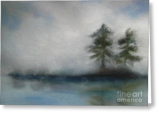 Misty Waters Greeting Card by Vivian  Mosley