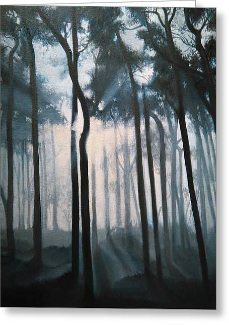 Misty Woods Greeting Card