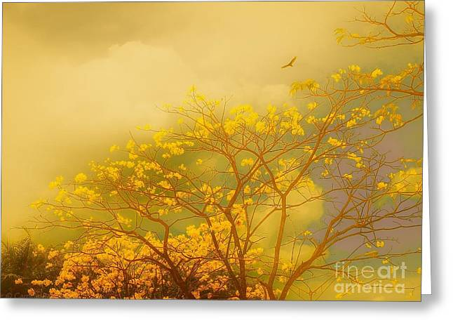 Misty Yellow Hue -poui Greeting Card