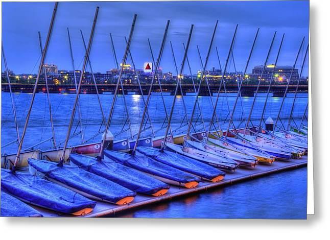 Mit Sailing Pavilion Greeting Card
