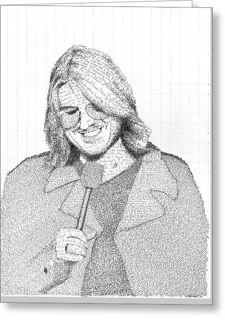 Mitch Hedberg In His Own Jokes Greeting Card by Phil Vance