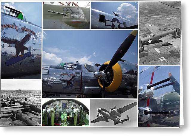 Mitchell B-25 Collage Greeting Card