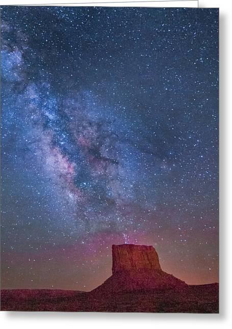 Mitchell Butte Milky Way 1 Greeting Card by Joe Kopp