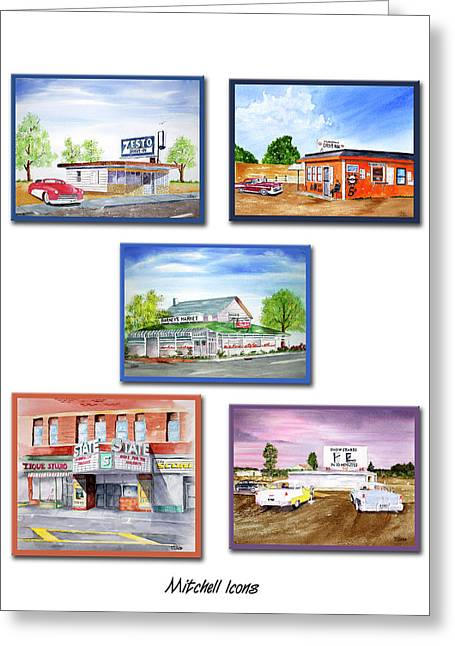Mitchell Icons Greeting Card