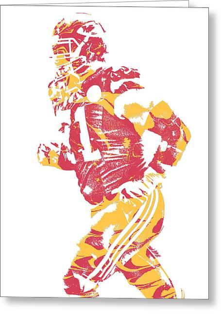 Mitchell Schwartz Kansas City Chiefs Pixel Art 1 Greeting Card