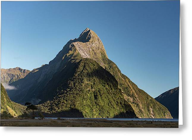 Greeting Card featuring the photograph Mitre Peak Rahotu by Gary Eason