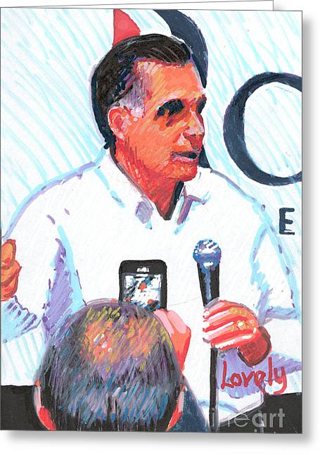 Mitt Romney Greeting Card by Candace Lovely
