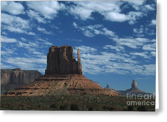 Mitten Under A Perfect Sky Greeting Card by Stan and Anne Foster