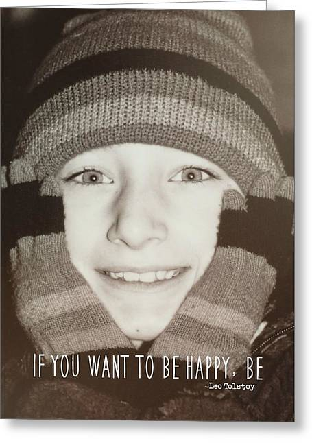 Mittens Quote Greeting Card by JAMART Photography