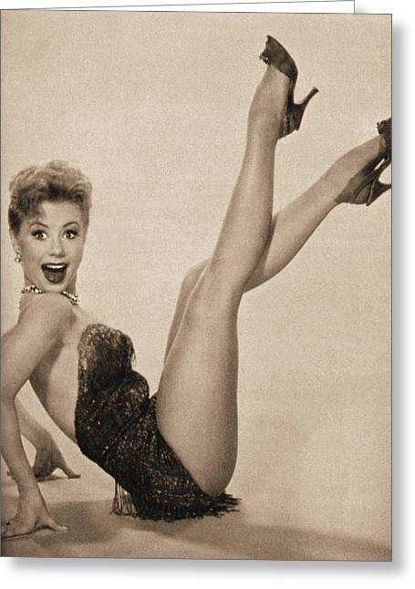 Mitzi Aka Legs Greeting Card by Douglas Settle