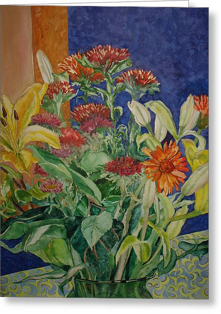 Mixed Bouquet Greeting Card by Caron Sloan Zuger