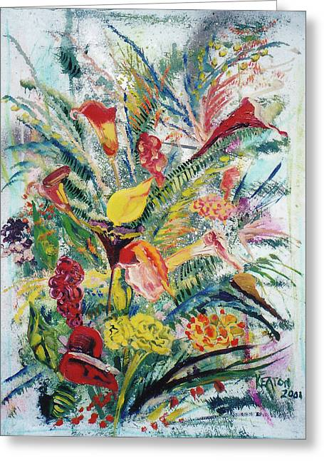 Mixed Bouquet Greeting Card by John Keaton