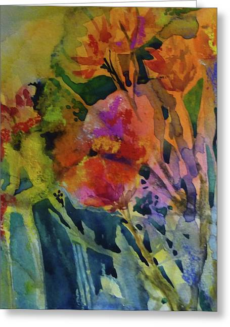 Mixed Media Flowers Greeting Card
