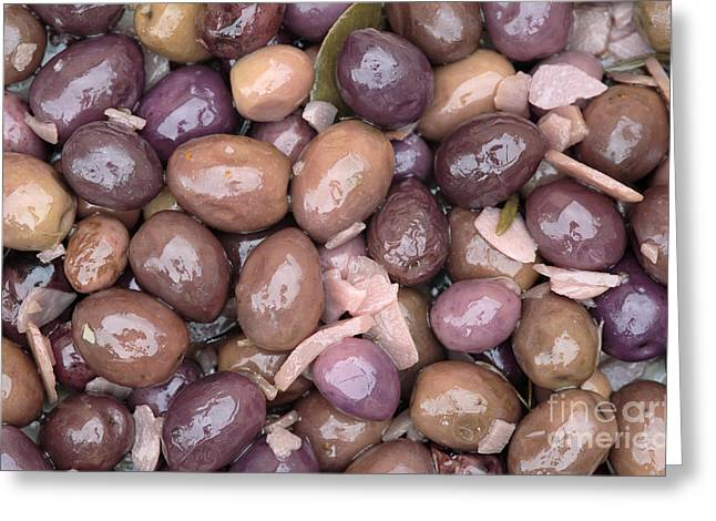 Mixed Olives Greeting Card by Neil Overy