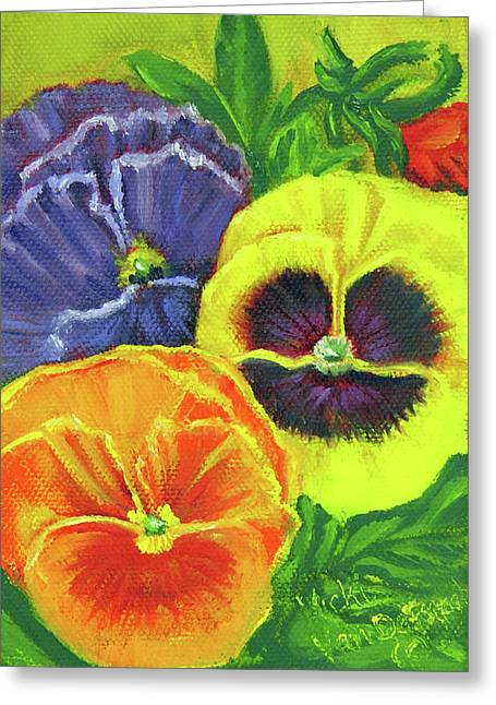 Mixed Pansy Seed Packet Greeting Card