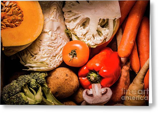Mixed Vegetable Produce Pack Greeting Card by Jorgo Photography - Wall Art Gallery
