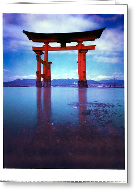 Miyajima Island Torii Greeting Card by Luca Baldassari